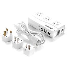 BESTEK Voltage Converter 220V to 110V Converter with 6A 4 USB Ports and UK/AU/US