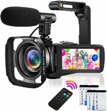 Video Camera Camcorder with Microphone Ultra HD 2.7K 30MP YouTube Vlogging Camer