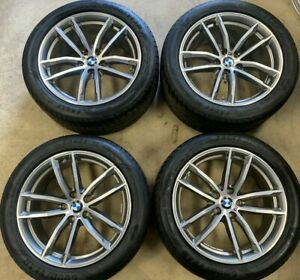 """18"""" INCH M SPORT BMW 5 SERIES ALLOY WHEELS GOODYEAR RFT G30 style 662m WITH TPMS"""