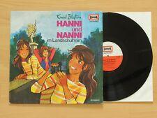 LP Hörspiele Enid Blyton - Hanni und Nanni im Landschulheim No. 12  EUROPA