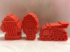 NEW Fire Engine, Hydrant Cookie Cutter Fondant Told Cake Toppers