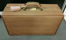 Hartmann basket ball Leather 12 x 21 Suitcase Vintage carry on  brown luggage