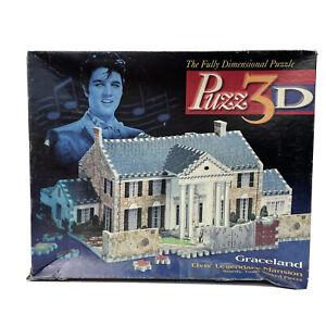 Vintage 1994 Puzz 3D Elvis Presley Graceland Mansion Puzzle 460 piece complete