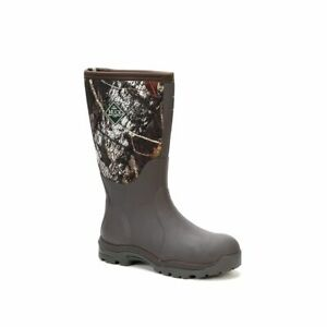 Muck Boots Company Women's WOODY MAX, MOSSY OAK BREAK-UP CAMO, Neoprene Rubber