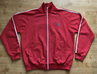 Fred Perry Red White Twin Taped Track Jacket  Track Top L Mod Ska Scooter Top