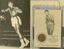 CASSIUS CLAY 1942 AUTHENTIC INK CARD