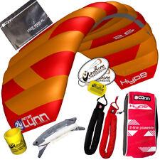 Peter Lynn Hype 2.6 Foil Power Stunt Kite 2 Line Padded Control Strap Orange Red