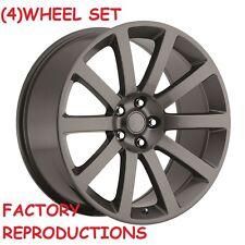 """4) 22"""" Chrysler 300 SRT8 Style Comp Grey Charger Challenger Magnum wheels set"""