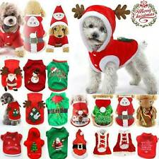 Xmas Pet Dog Cat Christmas Winter Coat Santa Costume Hoodie Puppy Jumpsuit Vest
