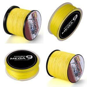 Dorisea Braid 100M-2000M 10LB-300LB Yellow PE Dyneema Braided Fishing line