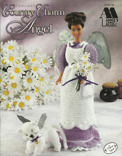 Country Charm Angel Cat Crochet Barbie Fashion Doll Dress Clothing Patterns NEW
