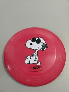 Red Retro Snoopy Doggy Disc Frisbee Peanuts