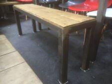 Vintage Industrial Bench Seating Reclaimed Plank Top Metal Framework