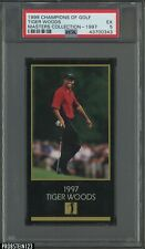 1998 Champions Of Golf Masters Collection 1997 Tiger Woods RC Rookie PSA 5 EX