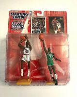 1997 NBA Starting Lineup Classic Doubles Hakeem Olajuwon Bill Russell Figure