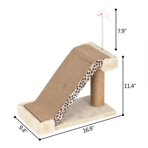 Cat Tree with Brown Leopard Ladder with Cat Toy/ Catnip