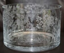 Crystal Glass Bowl Etched