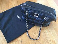 CHANEL Bag Black Soft Bubble Quilt Leather Shoulder Chain  SUPERB!