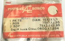 DUCATI BORGO PISTON RINGS VINTAGE NOS MADE IN ITALY 75mm