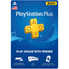 Sony PlayStation Plus 3 Month / 90 Day Membership Card US Quick Delivery!
