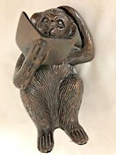 "Cast Iron Metal 5.5"" Monkey Figurine Reading a Book"