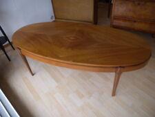 60er Italien Teak Couchtisch Coffee Table Oval Beistell Tisch Mid Century 70er
