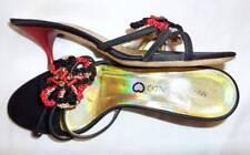 $290 ITALIAN KITTEN HEEL 6.5 / 7  MARTINI OSVALDO designer red black HEART shoe