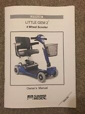 Sterling Little Gem 2 Mobility Scooter Owner's Manual Instructions Guide