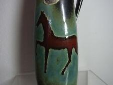 Mid Century 60's German Jopeka Ceramic Vase Horse  #^