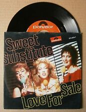 "7"" Sweet Substitute Love For Sale Holland Ps 1983 Synth Pop"