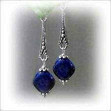 Lapis Stone Handcrafted Earrings
