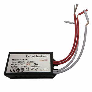 Mini LED Trafo 20 Watt 12V ~ AC Transformator Netzteil 12VAC klein Unterputzdose
