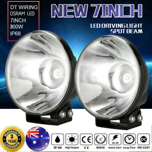 """7"""" New LED Driving Lights Spotlights Offroad Replace HID XENON Slimline Round4x4"""