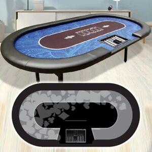 Tavolo Poker PROFESSIONALE 240x120 gambe pieghevoli panno NERO