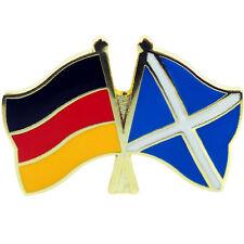 Freundschafts Pin Deutschland - Schottland Anstecker Anstecknadel Fahne Flagge