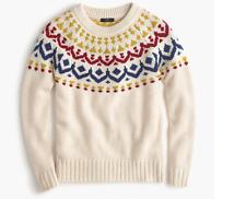 NWT J.CREW Mockneck Fair Isle sweater xs S M Large