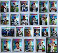 2020 Topps Heritage Chrome Refractor Complete Ur Set Baseball Cards U Pick /571