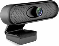 1080P Webcam with Microphone, USB Computer Web Camera Full HD Video Cam for PC