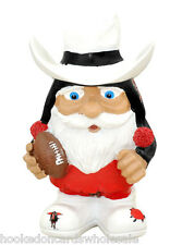 """Texas Tech Red Raiders Mad Hatter Garden Gnome - Football - 8"""" tall"""