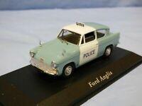ATLAS 1:43 Ford Anglia 105E Metropolitan Police Diecast Diorama Car Toy
