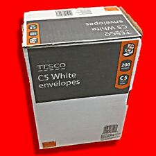 BOX 200 TESCO C5 (A5) WHITE ENVELOPES 90GSM PEEL SELF SEAL PLAIN NO WINDOW