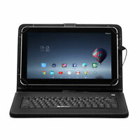 """USB Keyboard PU Leather Case Cover for 10"""" 10.1"""" 10.2"""" Tablet PC"""