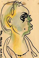 VINTAGE 1958 KARL PRIEBE AFRICAN AMERICAN MID MOD FINE ART MILWAUKEE WI PAINTING