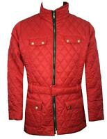 New Womens Ladies Plus Size Long Sleeve Quilted Belt Jacket Coat 18 20 22 24 26