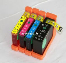 Pack 4 cartouches d'encre type Lexmark 100 XL Grande capacité pour Impact S305