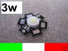 3w 3watt LED LUXEON BIANCO ALTA POTENZA 130 LUMEN BIANCO FREDDO 5500K