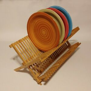 Bamboo Dish Drying Rack (PLATES NOT INCLUDED! FOR DEMONSTRATION PURPOSES ONLY!)