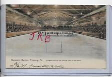 RARE BEAUTY~DUQUESNE GARDEN ICE HOCKEY RINK,PLAYERS,CROWD~PITTSBURGH,PA 1904
