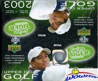 2003 Upper Deck Golf HUGE 24 Pack Factory Sealed Retail Box+Memorabilia Card !