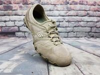 Women's SKECHERS shoes #21159 Bikers Hot Ticket Natural / Taupe sneakers Sz 7